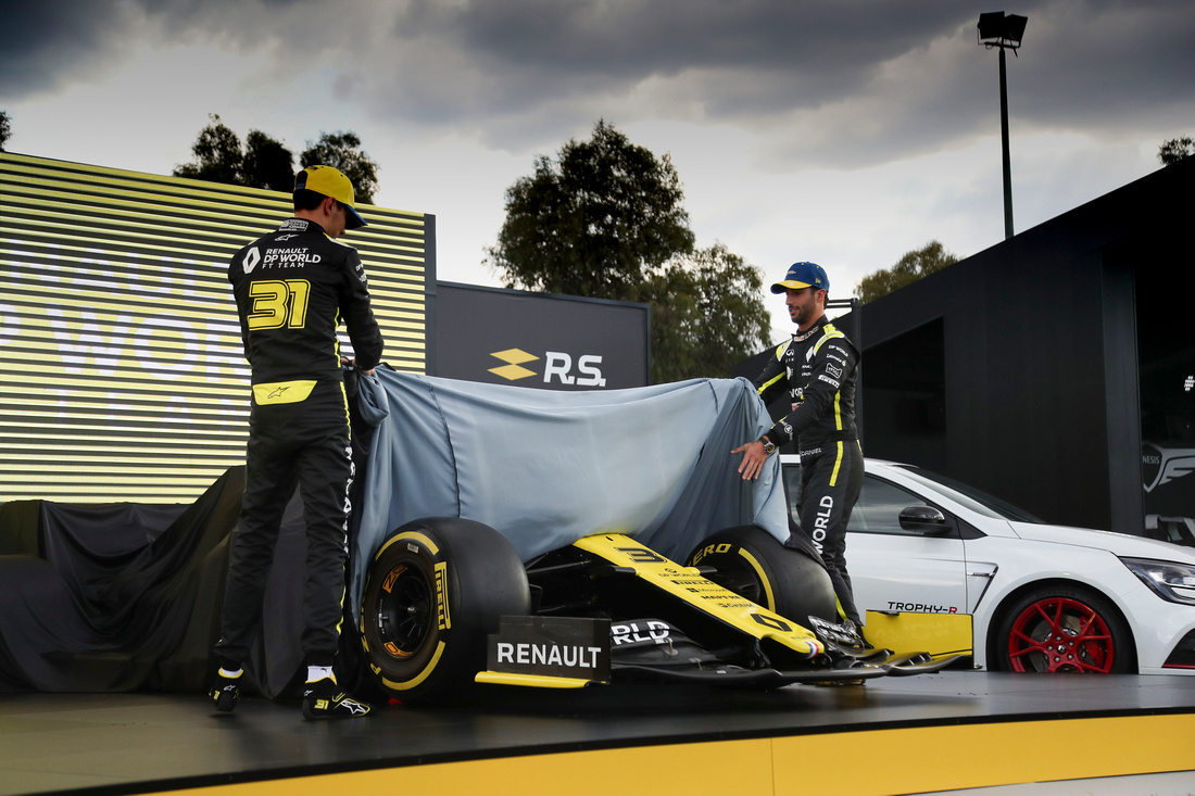 Renault F1 Team revealing their 2020 Livery
